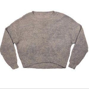 Hand dyed mink fuzzy knit sweater